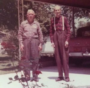 L to R: my grandpa, Wray McCoy; Great-grandpa Asa McCoy